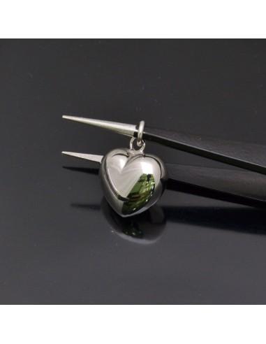 Ciondolo Cuore 19x16x10 mm con anella 6 mm in argento 925% Made in Italy
