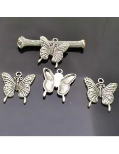 Ciondolo PENDENTI Farfalle per orecchini bracciale collana 23x24 mm 4 Pz.