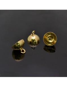 Coppetta con gancio 12x10 mm 4pz in argento 925%