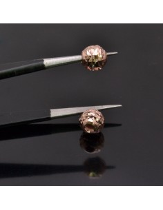 Perle Distanziatore sfaccettati 6mm foro 2 mm 4pz in argento 925%