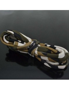 Fettuccia elastica tubolare elastica in Lycra colore camouflage verde tortora 1mt