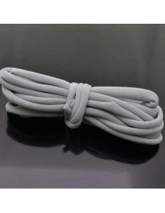 Fettuccia elastica tubolare elastica in Lycra colore grigio chiaro 1mt per bracciale collana