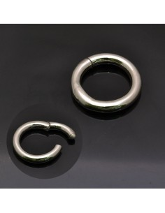 Chiusura tonda 22 mm in argento 925%