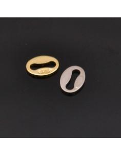 Medaglietta finale certifica argento 5x4 mm 25pz in argento 925%