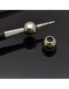 Perle Distanziatori 5 mm foro 2mm in argento 925% 8Pz