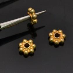 Distanziatori a corona 6 mm foro 2mm in argento 925% 6Pz
