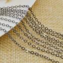 Catena in ottone anelli piatta saldati catena ovalina 1.7x2.3mm 1mt per bigiotteria