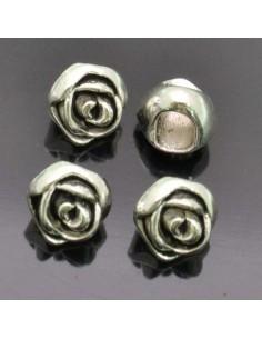 4 Pz. Ciondolo Inframezzo Rosa