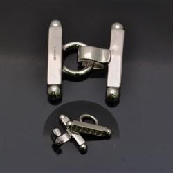 Chiusura a scatto per più fili in argento 925% da 26x28 mm