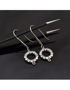 Monachelle con cerchio in argento 925% da 19x14 mm anella 3 mm