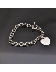 Bracciale con cuore da 18 cm Cuore 19x18 mm in argento 925%