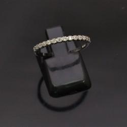 Anello sottile con zirconi misura 15 55 in argento 925%