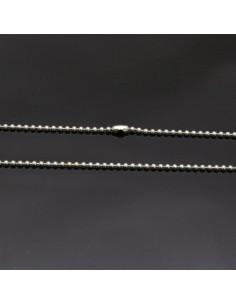 Base collana con palline piccole in argento 925% da 70 cm