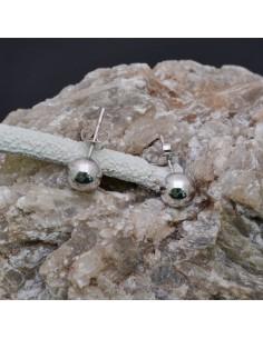 Orecchini a palla con perno in argento 925% da 7 mm