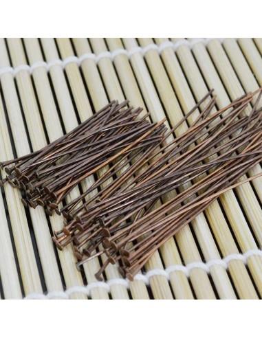 Chiodini a Testa Piatta in ottone col rame filo 0.6mm testa 1.6 mm per bigiotteria