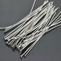 Chiodini a Testa Piatta in ottone 60mm filo 0.7 mm testa 2.2mm per bigiotteria