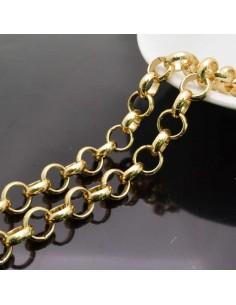 catena rolo in alluminio tonda col oro NICHEl 1mt per borse bigiotteria