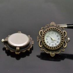 Base Orologio decorato Rotondo 29x32 col bronzo per Bracciale bigiotteria