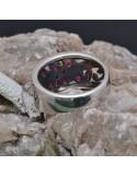 Anello incastonato con Rubini in argento 925%o Sterling Silver Anello thailandese