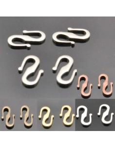 chiusura s per collana e bracciale in ottone 8x12 mm col varia 4 pz per bigiotteria