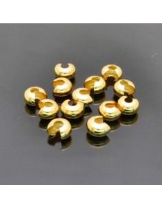 Coprischiaccini liscia in ottone placcata oro coprire gli schiaccini 4mm 5mm 6mm per bigiotteria