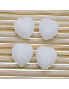 Pietre a forma di cuore agata bianca liscia 12.5 MM 2 pz per orecchini bracciali collana