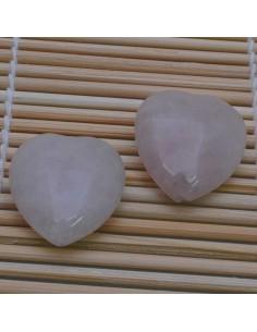 Pietre a forma di cuore Quarzo Rosa liscia 25 mm per orecchini bracciali collan