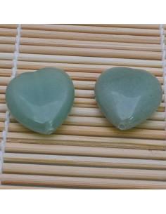 Pietre a forma di cuore Giada liscia 25 mm per orecchini bracciali collana