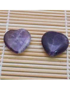 Pietre a forma di cuore ametista liscia 25 mm per orecchini bracciali collana