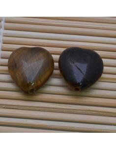 Pietre a forma di cuore occhio di tigre liscia 25 mm per orecchini bracciali collana