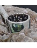 Anello incastonato con Ametista e Marcassite in argento 925%o Sterling Silver Anello thailandese