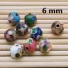 Cloisonne PERLE perline tondo 6 mm FORO PASSANTE 8 pz Distanziatori per bigiotteria