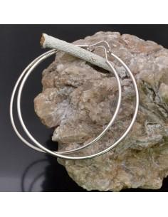 Orecchini ad anelle o Cerchio da 60 mm in argento 925% 1 paio