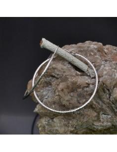 Orecchini ad anelle o Cerchio da 50 mm in argento 925% 1 paio