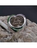 Anello intreccio con zirconi in argento 925%