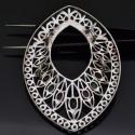 Ciondolo componente per collane e spille con pietre dure Zaffiro Rubino Smeraldo in argento 925% da 71x50 mm