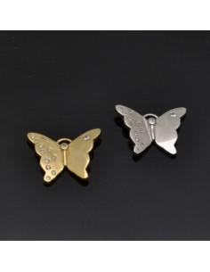 Ciondolo farfalla con zirconi in Argento 925%