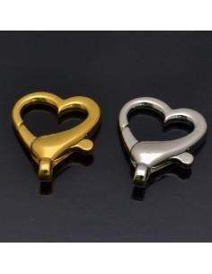 Chiusura Moschettone forma cuore in metallo