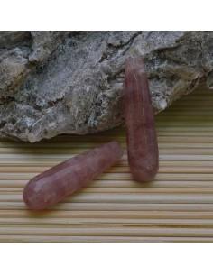 Goccia 10 x 40 mm avventurina rosa Sfaccettata per tue creazioni