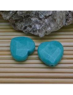 cuore 25 mm giada turchese sfaccettata per orecchini bracciali collana