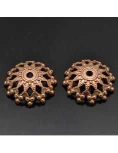 Copri perle in argento 925% rodiato oro rosa forma di fiore 20 pz per gioielli