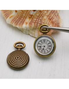 Ciondoli Orologi bronzo 11x17 mm 2 Pz per bigiotteria