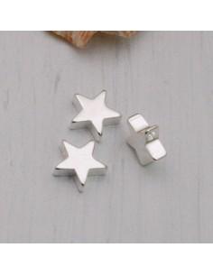 ciondoli stelle liscio argento 7.5 mm PER bracciale BIGIOTTERIA