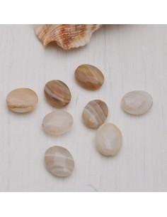 AGATA BOTSWANA forma ovale sfaccettato 10.5 x 8.5 mm per gioielli bigiotteria