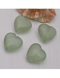 giada forma di cuore liscio 16 mm per orecchini bracciali collana
