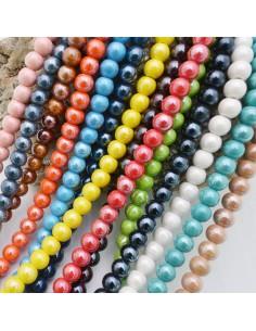 35 pz perla in ceramica tondo smaltata 10 mm per bijoux collana braccia orecchini