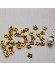 55 pz Copri perla colore oro antico 6 mm per bigiotteria