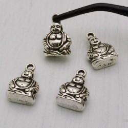 4 pz ciondoli Buddha Buddhismo 10 x 15 mm PER BIGIOTTERIA