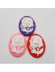 2 pz Cameo Cabochon in resina 30 x 40 mm per crema gioiello per BIGIOTTERIA