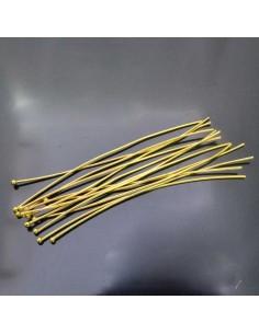 Chiodini Spilli testa Pallina col oro 80mm in ottone 20 pz FILO 0.5 MM per Bigiotteria